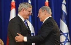 photo - Stephen Harper and Binyamin Netanyahu