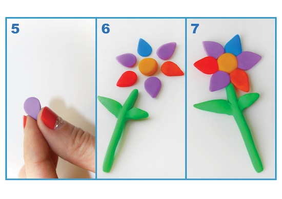 image - Steps 1-4 of making a Passover frog.