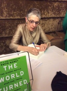 photo - Melanie Phillips signs her latest book