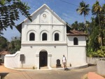 photo - Steven Finkleman in front of the restored Chennamangalam Synagogue.