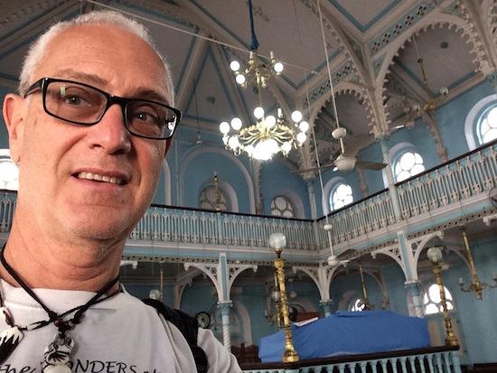 photo - Inside Keneseth Eliyahoo Synagogue, downtown Mumbai