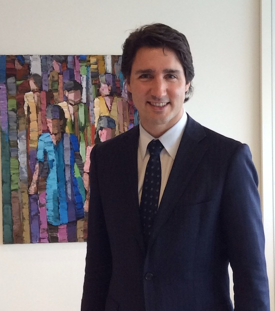 Justin Trudeau meets community leaders, chats with JI