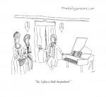 "cartoon - ""Ya, I play a little harpsicord."""