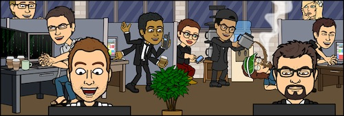 image - The Bitstrips team, as avatars, in its Toronto office