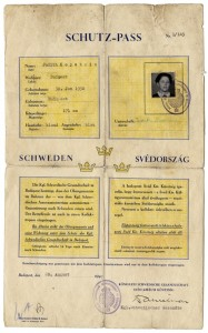 image - The Schutzpass of Judith Weiszmann (née Kopstein), which was featured in a stamp issued by Sweden and also one issued by Canada