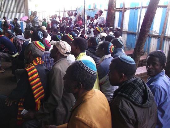 photo - Ethiopians at synagogue
