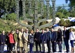 photo - Surrey Mayor Dianne Watts, centre left, with the delegation in front of the Knesset Menorah.