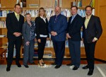 photo - From left, David Karp, Dr. Romayne Gallagher, Katherine Hammond, Rabbi Dan Moskovitz, Stephen Quinn and Dr. David Silver