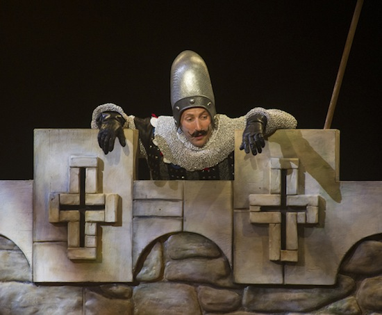 photo - Josh Epstein, as the taunting Frenchman in Spamalot