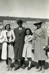 photo - The Frank family on the Merwedeplein, May 1941.