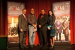 photo - From left to right, the Hon. Robert Henderson; Gary Schneider, Confederation Forest Project; John Horrelt, chair, PEI 2014 community advisory committee; and Penny Walsh McGuire, executive director, PEI 2014 Inc.