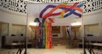 "photo - Created in 1984, Holy Blossom Temple's ""rainbow chuppah"" was inspired by imagery from the story of Noah's Ark"