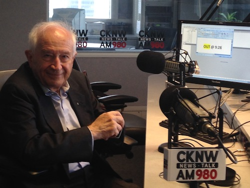 photo - Raphael Mechoulam at CKNW