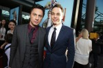 photo - Zach Braff, left, and Jim Parsons at the première for Wish I Was Here
