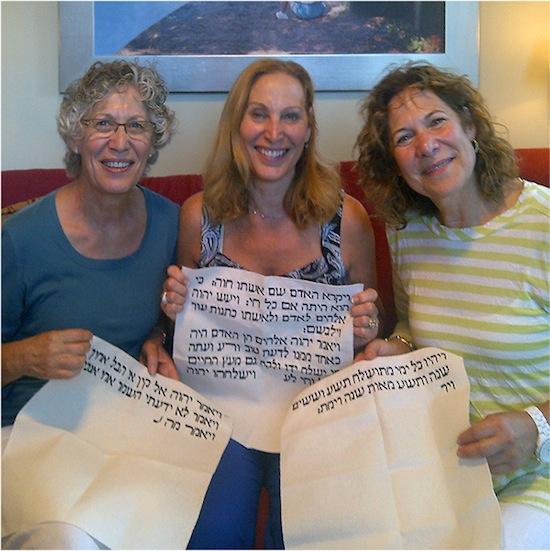 Hundreds unite to stitch Torah