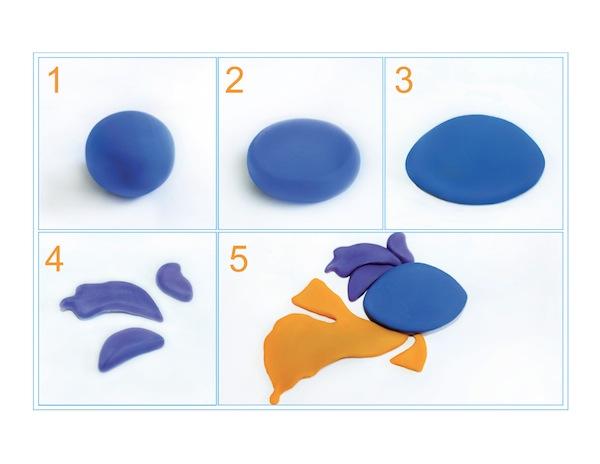 image - Plasticine fish steps 1-5