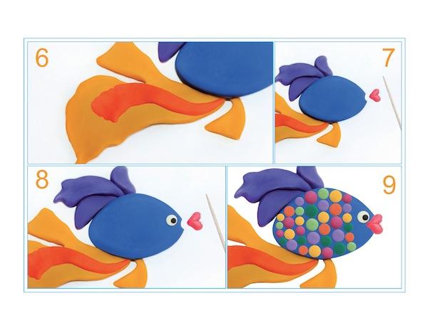image - Plasticine fish steps 6-9
