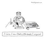 cartoon - Caesar memoirs
