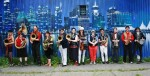 photo - Members of Orkestar Slivovica include Susan Gerofsky, fourth from the left