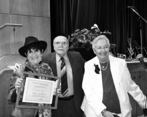 photo - Binny Goldman, left, Serge Haber and Edith Shier also were honored