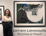 photo - Artist Lori-ann Latremouille at the opening of her solo show at the Zack Gallery on Nov. 6