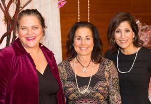 photo - Choices co-chair Melanie Samuels, left, women's philanthropy chair Judith Cohen, centre, and Choices co-chair Lisa Pullan