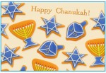 """image - card of Chanukah """"cookies"""" made from Plasticine by Lana Lagoonca."""