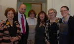 photo - At NCJW's 90th anniversary party, left to right, Robyn Lenn, Ezra S. Shanken, Debby Altow, Catherine Stoller, Sharon Allentuck and Cynthia Ramsay