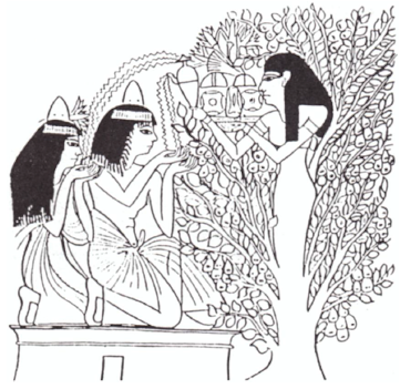 image - A Hathor tree giving food and life to humans