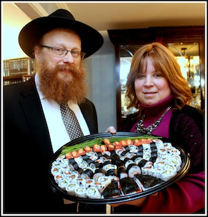 photo - Rabbi Falik and Rebbetzin Simie Schtroks hosted Iron Chef Chanukah Competition II at the Centre for Judaism in the Lower Fraser Valley of British Columbia. (photos from Centre for Judaism)
