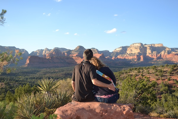 photo - The author and her husband appreciate Sedona's red rocks, which are not mountains but sand dunes that rise up to 6,592 feet