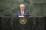 photo - Palestinian Authority President Mahmoud Abbas at the United Nations General Assembly in September 2014