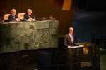 Minister Steven Blaney addresses an informal meeting of the United Nations General Assembly on Jan. 22