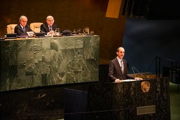 Blaney addresses UN