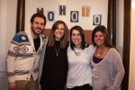 photo - Moishe House Toronto's first residents at the opening housewarming party on Jan. 17. Left to right are Aaron Savatti, Abigail Engelsman, Jillian Windman and Amanda Snow