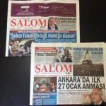 photo - A copy of Salom, the Turkish Jewish weekly tabloid