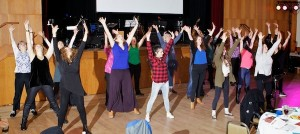 photo - Limmud Vancouver's Saturday night cabaret included a flash mob, music and Havdalah
