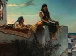 "photo - ""Evening on the Terrace (Morocco)"" by Jean-Joseph Benjamin-Constant conveys a popular image of languid life of the Maghreb of the 19th century"