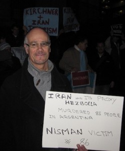 photo - Jewish community member Gabriel Patrich (left) was one of the Vancouver march organizers