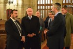 photo - The Hon. Rob Nicholson at the Great Synagogue of Paris during a trip to France, accompanied by Joël Merghi and Rabbi Moshe Sebbag