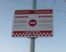 photo - CPR no trespassing sign