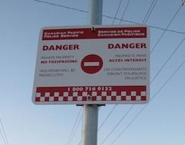 photo - CPR no trespassing sign
