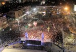 photo - Tens of thousands, at a rally in Rabin Square in Tel Aviv on March 7, call for Prime Minister Binyamin Netanyahu to be replaced in the upcoming elections. The rally, organized by a group called Million Hands, had as its keynote speaker the former head of the Mossad, Meir Dagan