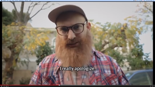 Apology spoof short-sighted