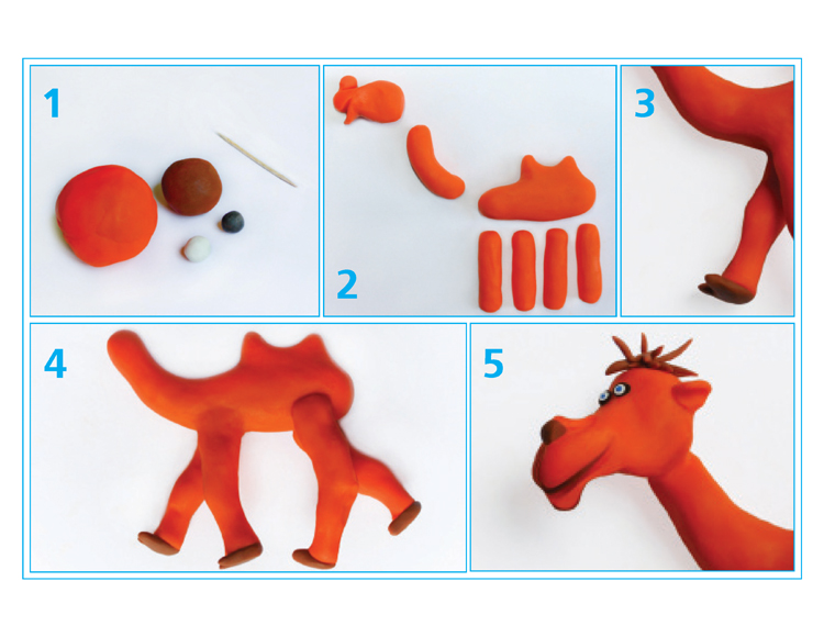 image - Clay camel by Lana Lagoonca, steps 1-5