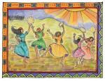 "image - ""Miriam Dances,"" was created by artist Carol Racklin-Siegel"
