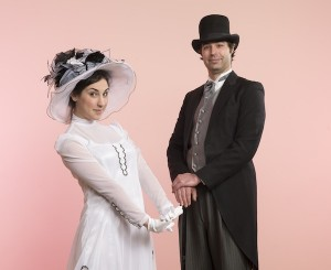 photo - Jewish community members Kathryn Palmer and Jonathan Boudin in the ensemble of Royal City Musical Theatre's My Fair Lady.