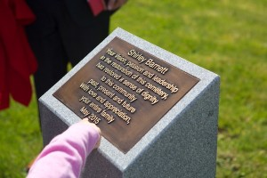 photo - plaque honoring Sheila Barnett