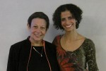 photo - Dr. Adele Diamond, left, with Dr. Rania Okby at a talk Okby gave at a Canadian Associates of Ben-Gurion University-hosted event at the University of British Columbia