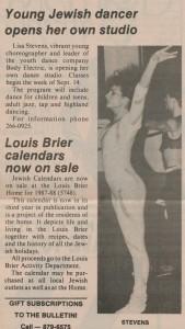 image - scan - Lisa Stevens opened her own dance studio, JWB 1987